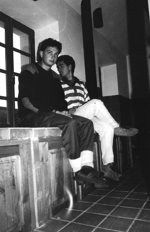 En el Albergue de Leitariegos, en 1991